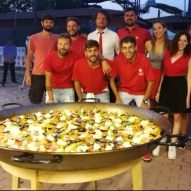 staff completo red party
